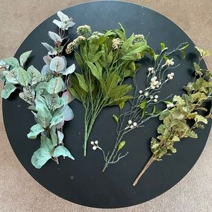 Lot of 6 silk floral greenery stems from Michaels